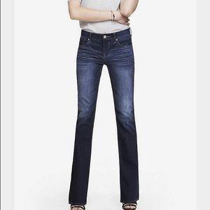Express Stella Bootcut Dark Wash Jeans Sz 2